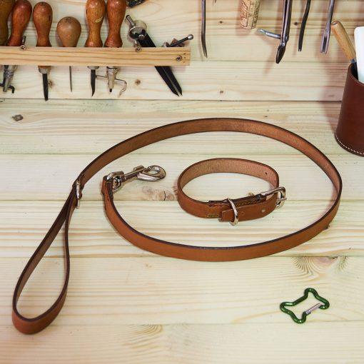 English Bridle Dog Collar and Lead