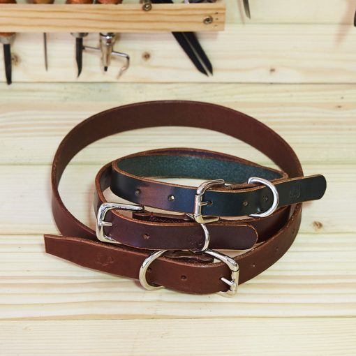English Bridle Leather Dog Collars