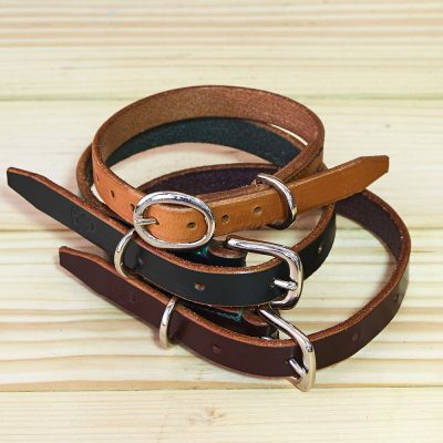 Selection of English Bridle Leather Dog Collars