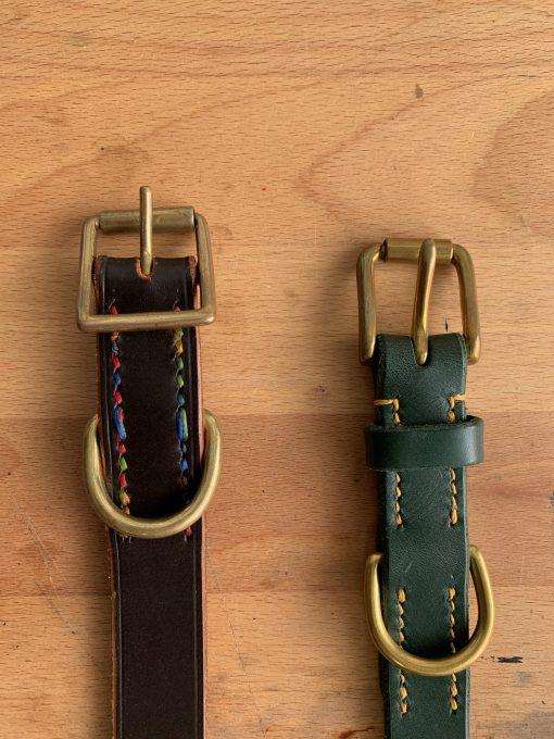 Dog Collar Buckle Styles, left whole buckle, right half buckle