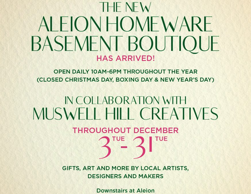 MHC at Aleion Boutique extended to 6 Jan