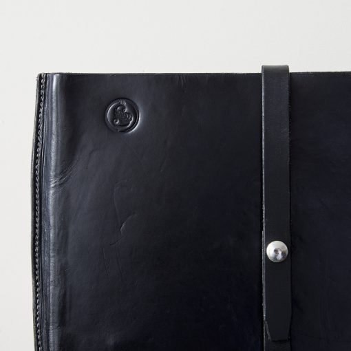 Black Bridle Leather Laptop Sleeve