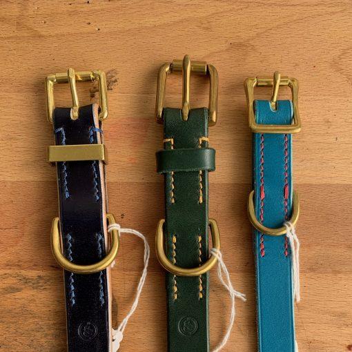 bespoke bridle leather dog collars