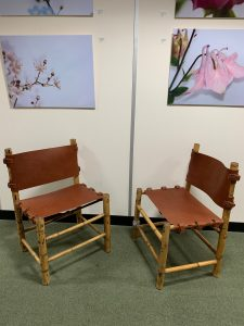 Bamboo and Leather Chairs